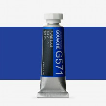 Holbein : Gouache Paint : 15ml : Pure Blue