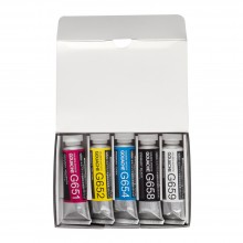 Holbein : Artists' Gouache Paint : 15ml : Primary Set of 5
