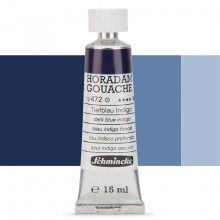 Schmincke : Horadam Gouache Paint : 15ml : Dark BlueIndigo