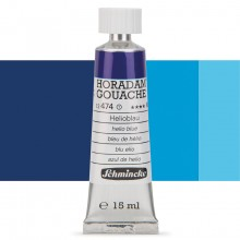 Schmincke : Horadam Gouache Paint : 15ml : Helio Blue