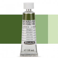 Schmincke : Horadam Gouache Paint : 15ml : Olive Green