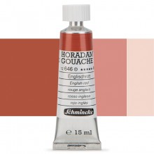 Schmincke : Horadam Gouache Paint : 15ml : English Red