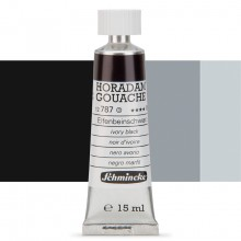 Schmincke : Horadam Gouache Paint : 15ml : Ivory Black