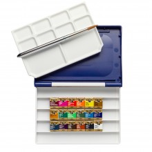 Holbein Watercolour Paint Set : Plastic Case : 18 Half Pans