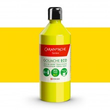 Caran d'Ache : Eco Gouache : 500ml : Fluorescent Lemon Yellow