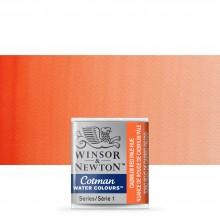 Winsor & Newton : Cotman Watercolour : Half Pan : Cadmium Red Pale Hue