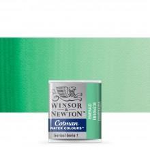 Winsor & Newton : Cotman Watercolour : Half Pan : Emerald Green