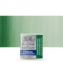 Winsor & Newton : Cotman Watercolour : Half Pan : Hookers Green Dark