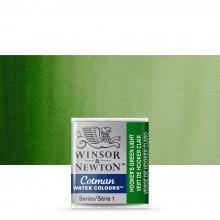 Winsor & Newton : Cotman Watercolour : Half Pan : Hookers Green Ltg