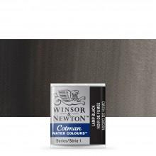 Winsor & Newton : Cotman Watercolour : Half Pan : Lamp Black