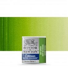 Winsor & Newton : Cotman Watercolour : Half Pan : Sap Green