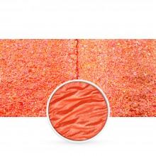 Finetec : Coliro : Pearlcolors : Mica Watercolour Paint : 30mm Refill : Vibrant Orange M044