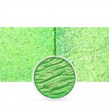Finetec : Coliro : Pearlcolors : Mica Watercolour Paint : 30mm Refill : Vibrant Green M048