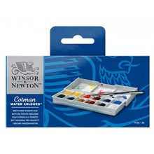 Winsor & Newton : Cotman : Watercolour : Sketchers Pocket Box Set : 12 Half Pans
