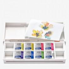 Winsor & Newton : Cotman : Watercolour Paint : Half Pan : Floral Pocket Set of 8