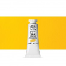 Winsor & Newton : Designer Gouache Paint : 14ml : Cadmium Yellow