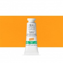 Winsor & Newton : Designer Gouache Paint : 14ml : Cadmium-Free Yellow Deep