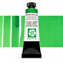 Daniel Smith : Watercolour Paint : 15ml : Permanent Green Light : Series 1