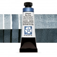 Daniel Smith : Luminescent Watercolour Paint : 15ml : Iridescent Blue-Silver : Series 1