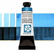 Daniel Smith : Luminescent Watercolour Paint : 15ml : Iridescent Electric Blue : Series 1