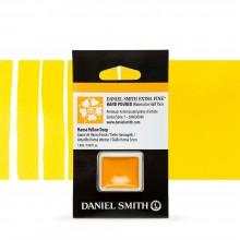 Daniel Smith : Watercolour Paint : Half Pan : Hansa Yellow Deep : Series 1