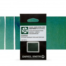Daniel Smith : Watercolour Paint : Half Pan : Cascade Green : Series 1