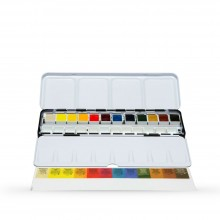 Daniel Smith : Watercolour Paint : Half Pan : Metal Box Set of 12
