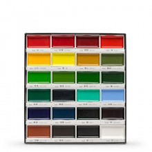 Kuretake : Gansai Tambi Japanese Watercolour : 24 Colour Large Pan Set