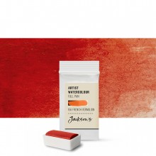 Jackson's : Artist Watercolour Paint : Full Pan : French Vermillion