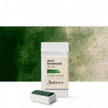 Jackson's : Artist Watercolour Paint : Full Pan : Permanent Sap Green