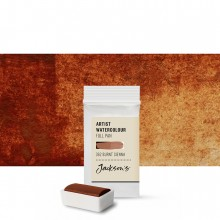 Jackson's : Artist Watercolour Paint : Full Pan : Burnt Sienna