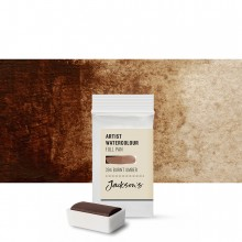 Jackson's : Artist Watercolour Paint : Full Pan : Burnt Umber