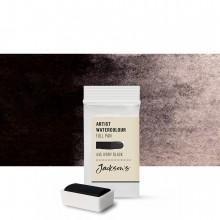 Jackson's : Artist Watercolour Paint : Full Pan : Ivory Black