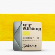 Jackson's : Artist Watercolour Paint : Half Pan : Lemon Yellow