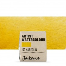 Jackson's : Artist Watercolour Paint : Half Pan : Aureolin