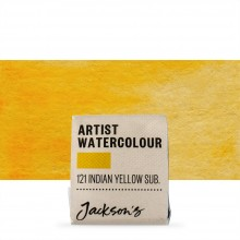 Jackson's : Artist Watercolour Paint : Half Pan : Indian Yellow Hue