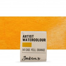Jackson's : Artist Watercolour Paint : Half Pan : Cadmium Yellow Orange