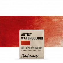 Jackson's : Artist Watercolour Paint : Half Pan : French Vermillion