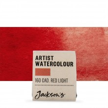 Jackson's : Artist Watercolour Paint : Half Pan : Cadmium Red Light