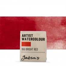 Jackson's : Artist Watercolour Paint : Half Pan : Bright Red