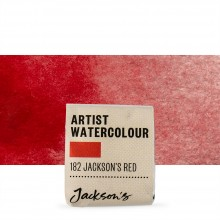 Jackson's : Artist Watercolour Paint : Half Pan : Jackson's Red (Pyrrole)