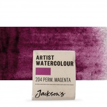 Jackson's : Artist Watercolour Paint : Half Pan : Permanent Magenta
