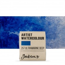 Jackson's : Artist Watercolour Paint : Half Pan : Ultramarine Deep