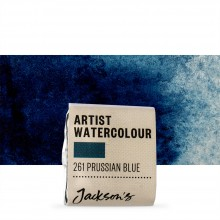 Jackson's : Artist Watercolour Paint : Half Pan : Prussian Blue