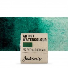 Jackson's : Artist Watercolour Paint : Half Pan : Phthalocyanine Green Deep