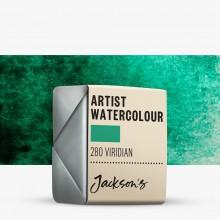 Jackson's : Artist Watercolour Paint : Half Pan : Viridian