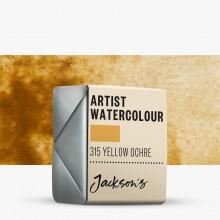 Jackson's : Artist Watercolour Paint : Half Pan : Yellow Ochre