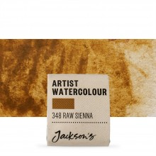 Jackson's : Artist Watercolour Paint : Half Pan : Raw Sienna
