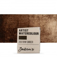 Jackson's : Artist Watercolour Paint : Half Pan : Raw Umber