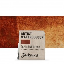 Jackson's : Artist Watercolour Paint : Half Pan : Burnt Sienna